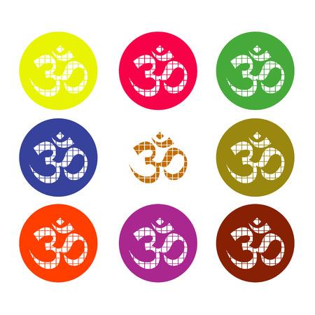heart chakra: The Om set vector design