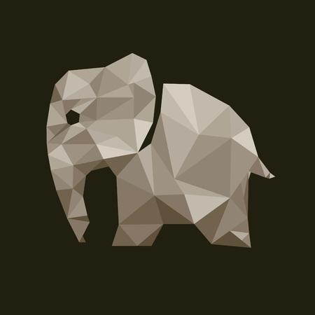 endangered species: Low Poly Elephant Illustration