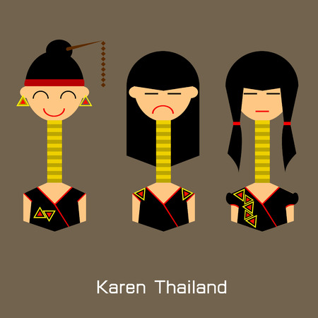 wat arun: thailand beautiful girl Illustration