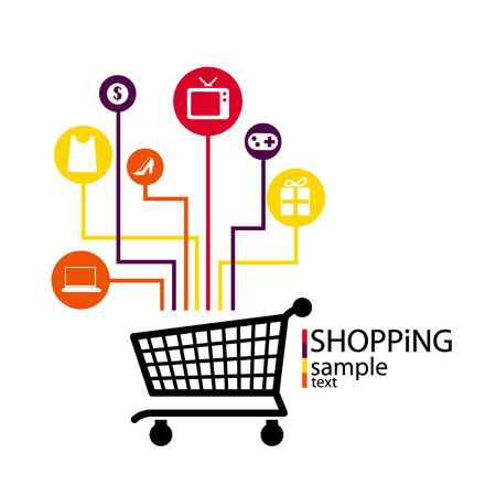 shopping, e commerce Illustration