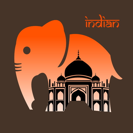 painted toes: Elephant of indian Illustration