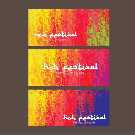 panchami: illustration of colorful Holi background in Indian Illustration