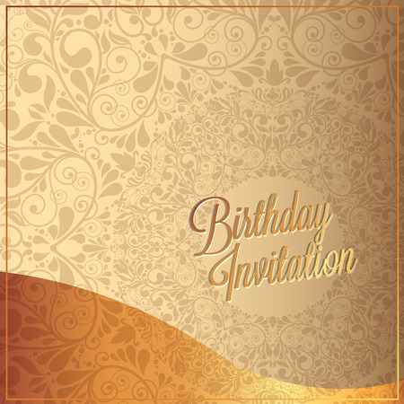 play date: Vector birthday card with  birthday text.