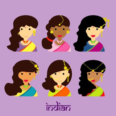 bailarinas arabes: Cara hermosa niña de la India