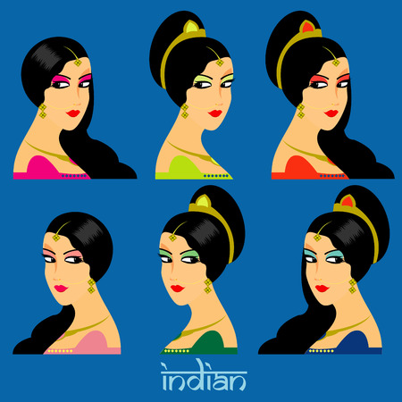 belly dancer: Beautiful India face women
