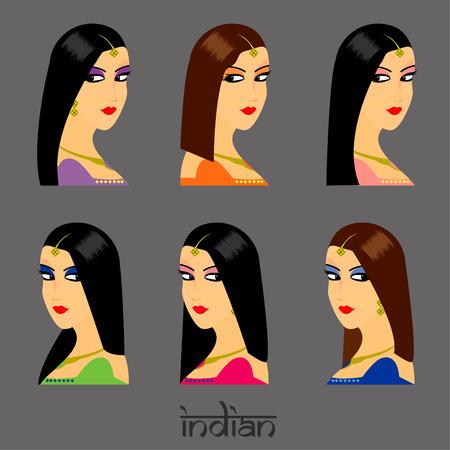 bailarinas arabes: Cara hermosa de la mujer India