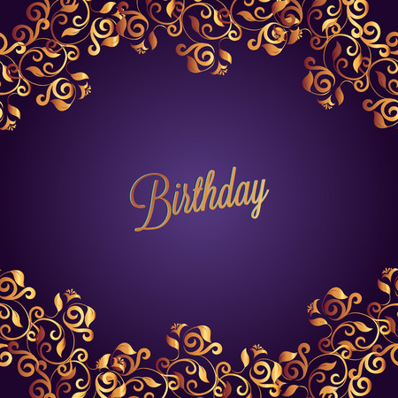 Happy Birthday Card And Background Design Royalty Free Cliparts