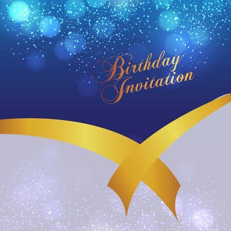 Happy Birthday card and background design Illustration