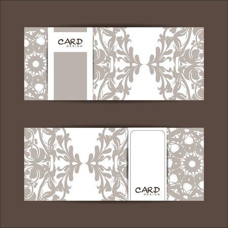set of greeting cards design Çizim