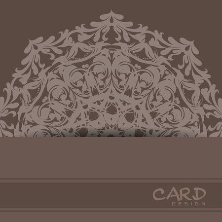 Beautiful mandala ornament background design Çizim