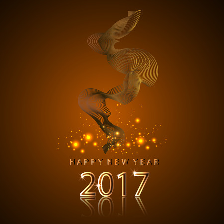 Happy New year 2017 and smoke color design