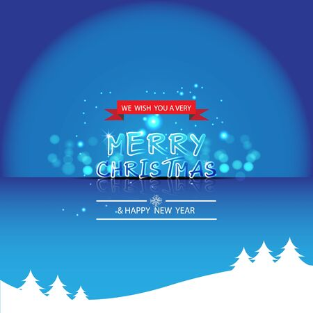 Merry Christmas and Happy new year,vector design