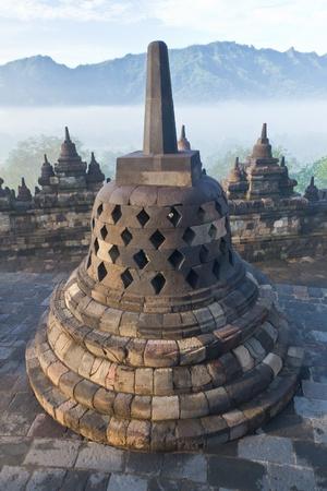 Buddhist temple Borobudur  Jogjakarta  Java, Indonesia photo