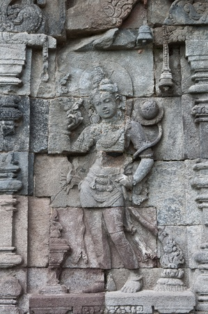 Carved stone at Borobudur, Jogjakarta Indonesia photo