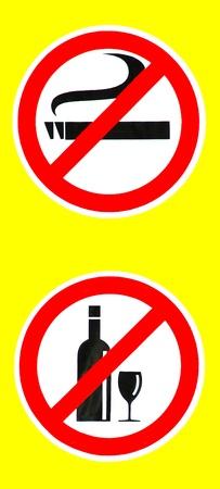 No smoking No drinking Stock Photo - 13066634