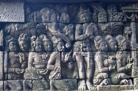 Carved stone at Borobudur on Java, Indonesia Stock Photo - 13068063