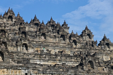 Buddhist temple Borobudur  Jogyakarta  Java, Indonesia photo