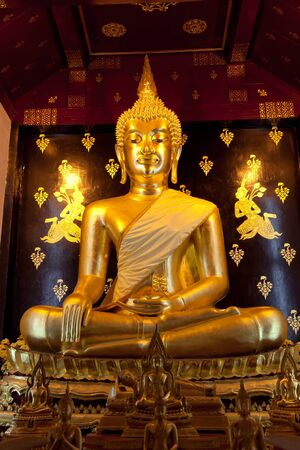 Beautiful golden Buddha statue in Thailand