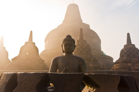 the stupa: Borobudur Temple  Jogjakarta, Java, Indonesia