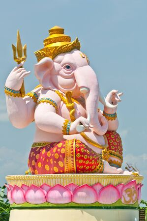 Pink Ganesha statue photo