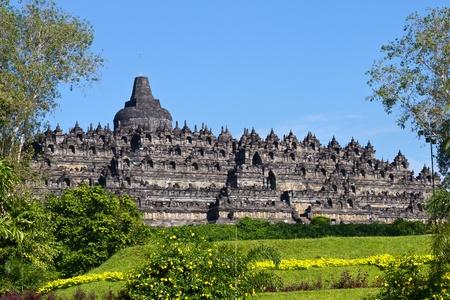 jogjakarta: Borobudur Temple  Jogjakarta, Java, Indonesia Stock Photo