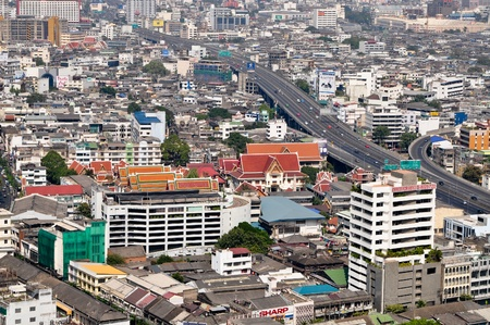 Top view of Bangkok capital of Thailand Stock Photo - 13627169
