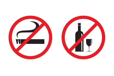 No smoking No drinking  Stock Vector - 17005407
