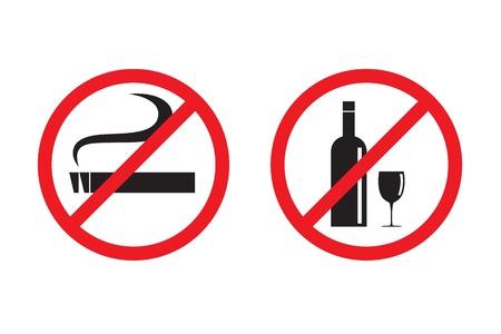 no smoking sign: No smoking No drinking