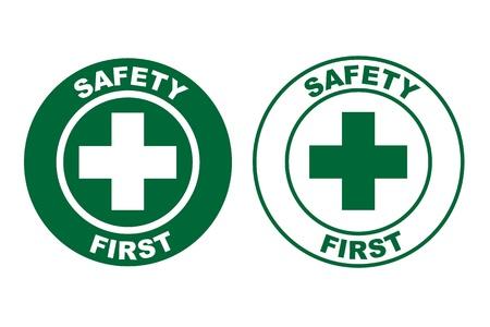 se�alizacion de seguridad: la seguridad primero se�al