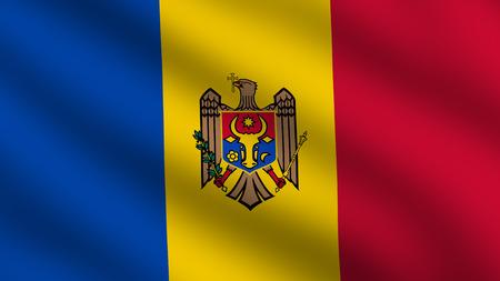 moldova: Flag of Moldova Stock Photo