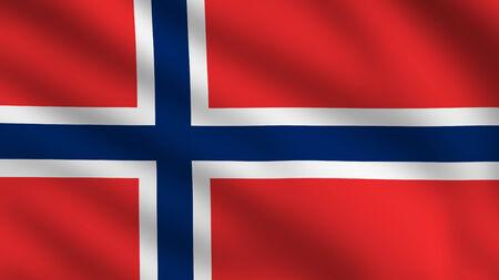 scandinavian peninsula: Flag of Norway Stock Photo