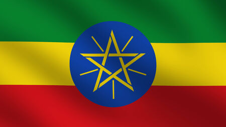 ethiopian ethnicity: Flag of Ethiopia Stock Photo