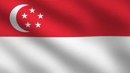 singaporean flag: Flag of Singapore Editorial