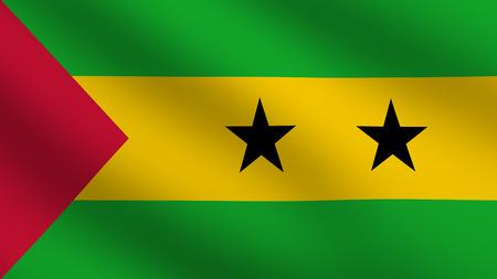 tome: Flag of Sao Tome Stock Photo