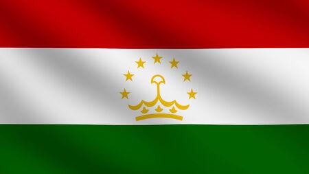 Flag of Tajikistan photo