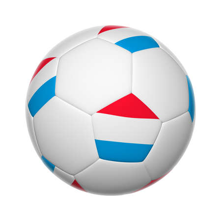 Flags on soccer ball of Luxembourg photo