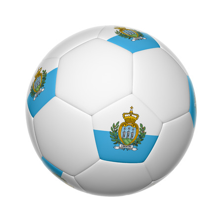 Flags on soccer ball of San marino photo