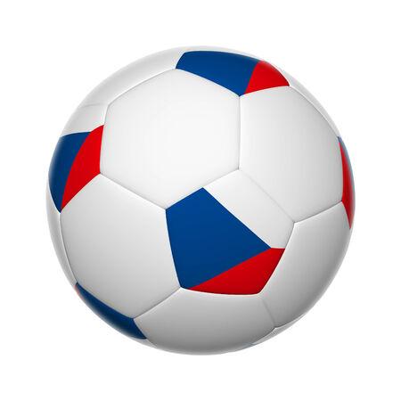 Flags on soccer ball of Czech Republic photo