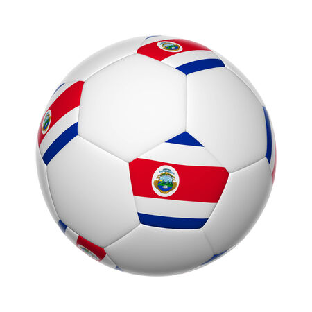Flags on soccer ball of Costa Rica Stock Photo