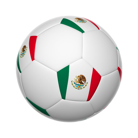 Flags on soccer ball of photo