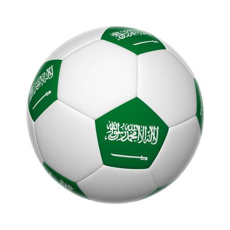 Flags on soccer ball of Saudi Arabia photo