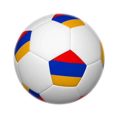 armenian: Flags on soccer ball of Armenia Stock Photo