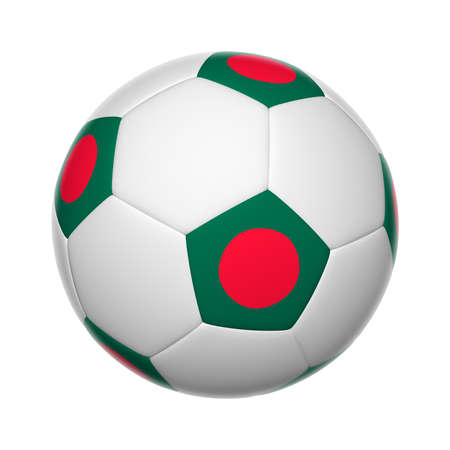 bangladesh 3d: Flags on soccer ball of Bangladesh