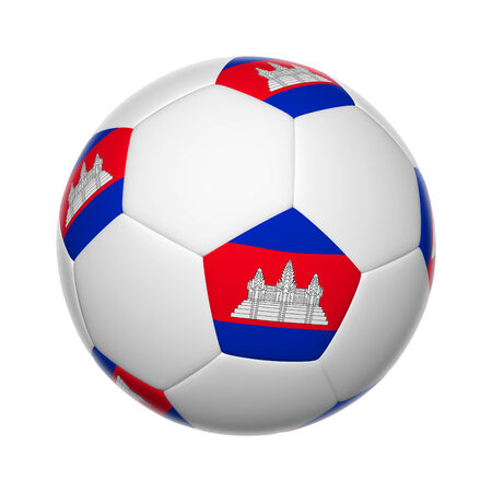 cambodian flag: Flags on soccer ball of Cambodia