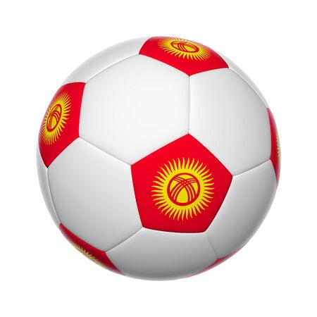 kyrgyzstan: Flags on soccer ball of Kyrgyzstan Stock Photo