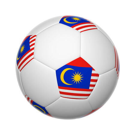 Flags on soccer ball of Malaysia photo