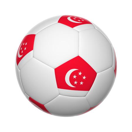 singaporean flag: Flags on soccer ball of Singapore