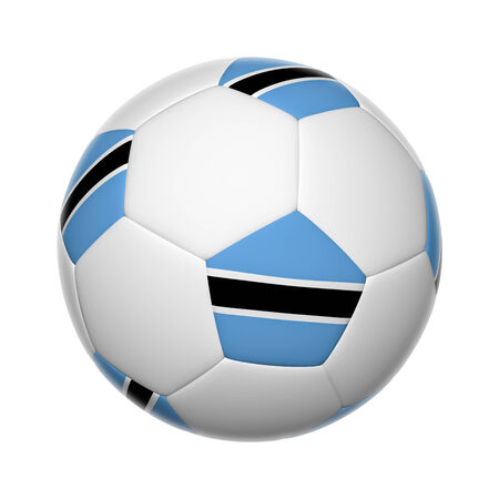 botswanan: Flags on soccer ball of Botswana