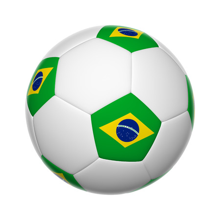 Flags on soccer ball of Brazin photo