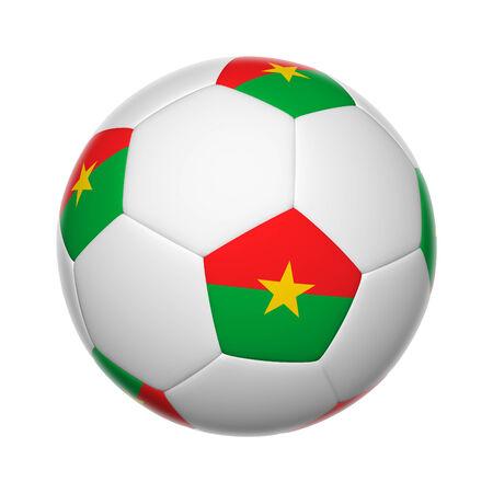 burkina faso: Flags on soccer ball of Burkina Faso Stock Photo